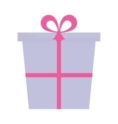 Purple and pink gift box present ribbon vector