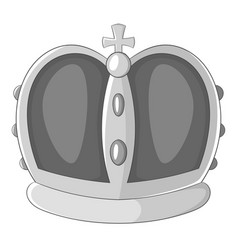Royal crown icon monochrome vector
