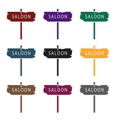 Saloon icon in black style isolated on white vector