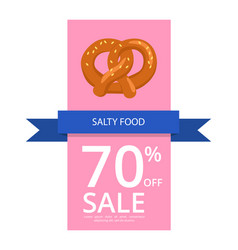 Salty food 70 off sale on vector