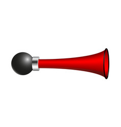 Vintage air horn in red design vector