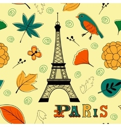 Paris autumn seamless pattern vector image