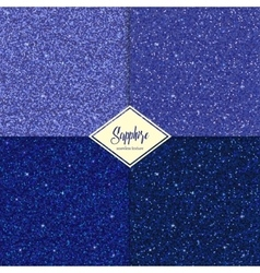 Set of glitter sapphire texture vector image