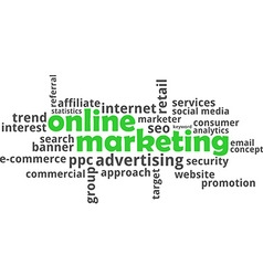 word cloud online marketing vector image