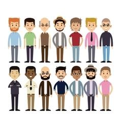 Group men multi-cultural fashion vector
