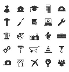 Engineering icons on white background vector