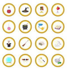 Magic cartoon icon circle vector