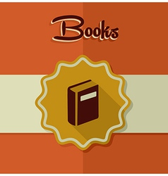 Vintage books label elements vector