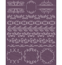 Floral decorative borders ornamental rules divider vector