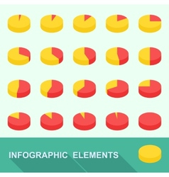 Infographic elements - circle diagrams vector