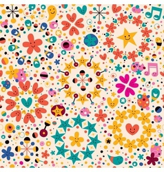 Fun cartoon pattern 11 vector