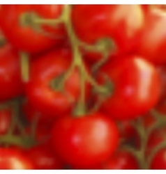 Blurred tomatos realistic background vector