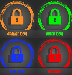 Lock sign icon locker symbol fashionable modern vector