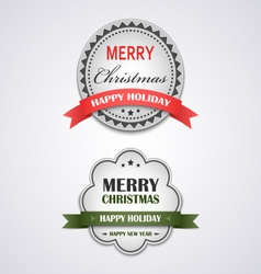 Christmas white vintage retro design style element vector