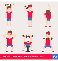 Men workout set3 vector