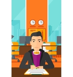 Man signing contract vector