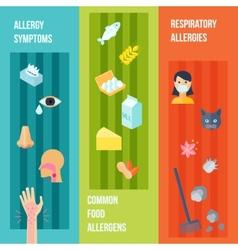 Allergy banner set vector