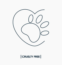 Animal cruelty free logo vector