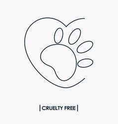 Animal cruelty free logo vector