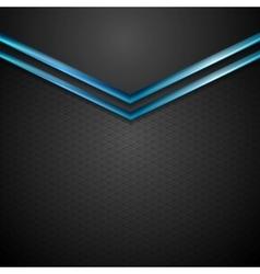 Blue black contrast arrows corporate design vector