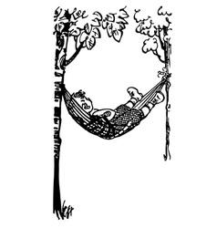 Boy in hammock vector
