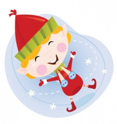 cartoon Christmas elf vector image