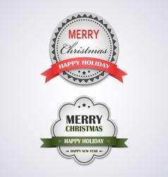 Christmas white vintage retro design style element vector image