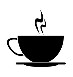 Cup of coffee smoke hot pictogram vector