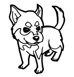 Dog coloring book vector