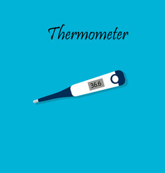 electronic medical thermometer vector image vector image