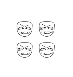 expression-face vector image