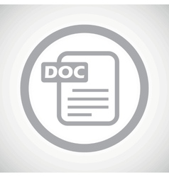 Grey doc file sign icon vector
