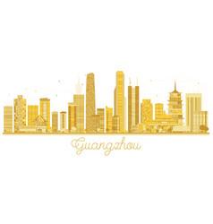 Guangzhou city skyline golden silhouette vector