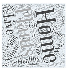 Healthy aging starting in your home word cloud vector