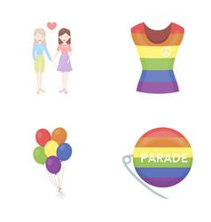 Lesbians dress balls gay parade gay set vector