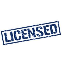 Licensed stamp vector