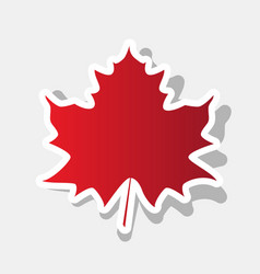 maple leaf sign new year reddish icon vector image