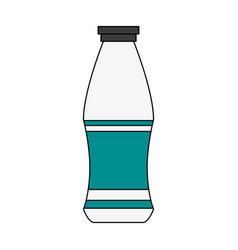 milk bottle isolated vector image