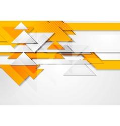 Orange shiny hi-tech motion background vector