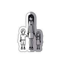 people woman with her children icon vector image vector image