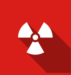 Radiation flat icon with long shadow vector