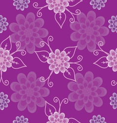 Seamless pattern lilac flowers vector