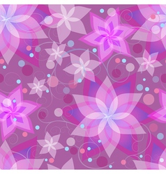 Seamless pattern with flowers circles swirls vector image