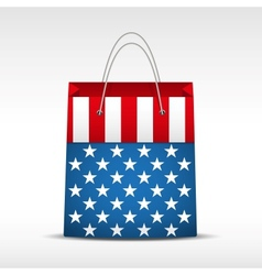 Shopping bag with USA flag vector image vector image