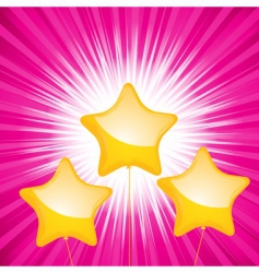 star shaped balloon starburst vector image vector image