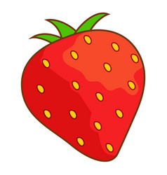 strawberry icon cartoon style vector image vector image