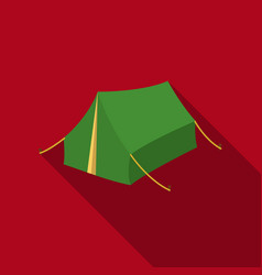 Tent icon in flat style isolated on white vector
