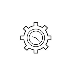 time settings icon vector image