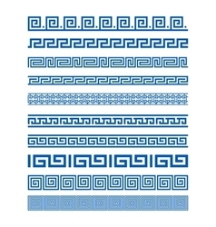 Set of border decoration elements seamless vector