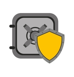 Shield security system flat icon vector